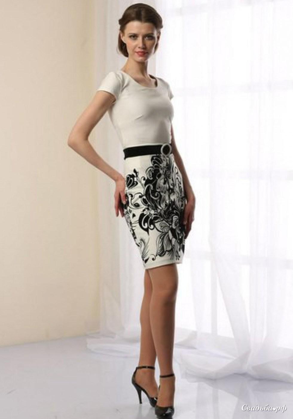 Купить вечернее платье К769 (цвета: белый, кремовый) - Свадебный